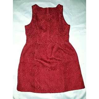 Red Emboss Dress