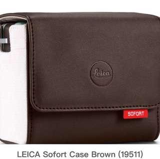 Leica Sofort Leather Case Brown 啡色原裝皮套