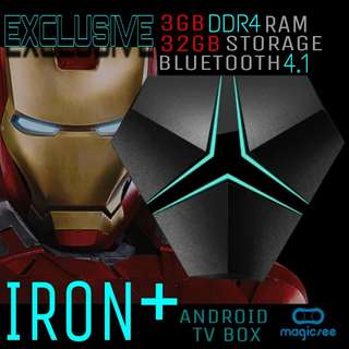 Exclusive Iron+ Android Tv box