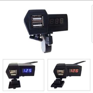 ~PROMOTION~ Motorcycle Dual USB Charger with Voltmeter