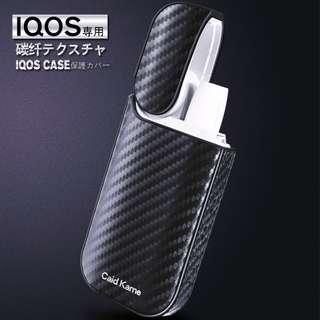 IQOS二代 2.4 / 2.4 Plus 電子煙專用碳纖皮套保護套防摔增強手感防塵