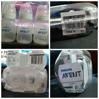 Avent bottle and Avent soothie
