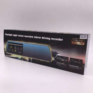 "NIA-907T 4.3"" Car Camera Review Mirror Dvr With Touch Screen Digital Video Recorder Dual Lens FHD1080P"
