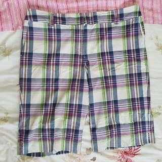 Celana Tartan Short Pants Cotton Big Size Santai Stretch Mix Katun Nyaman Selutut Fit To XL