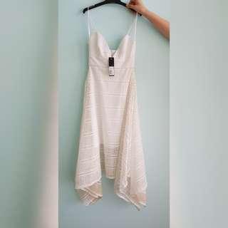 Nicholas Diamond Lace Hem Dress [Free Shipping]