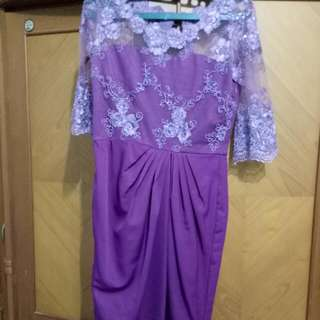 Dress With Brukat Of Purple