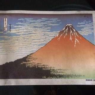 Watercolor print art from Tokyo