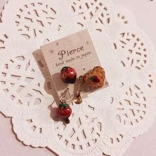 Cute Japanese Strawberry Earrings