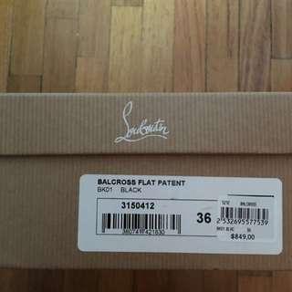 Christian Louboutin Black Ballet Flats