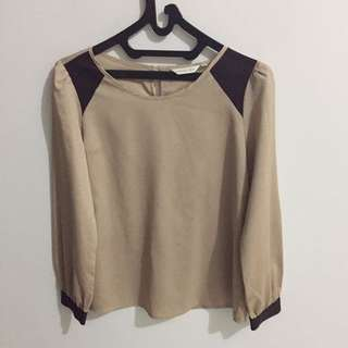 Brown blouse by atmosphere