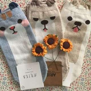 Cute puppy korea socks