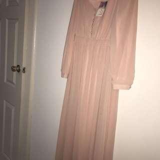 Vintage Inspired Long Sleeve Maxi Dress