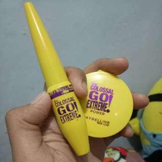 Eyeliner dan powder maybelline colossal