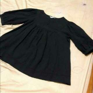 🌟日貨☆可愛蓬蓬五分袖棉麻上衣