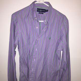 VINTAGE RALPH LAUREN LONG SLEEVE BUTTON UP PURPLE