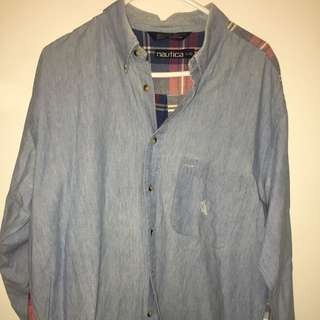 VINTAGE NAUTICA LONG SLEEVE BUTTON UP