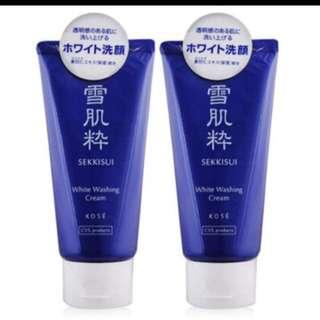 日本雪肌粹洗面乳80ml預購ㄧ條200