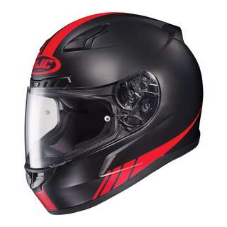 HJC CL-17 Streamline Full-Face Motorcycle Motorbike Helmet (MC-1F, Medium) Red Black Carbon Matte Ex-Display, (D.O.T Approved)