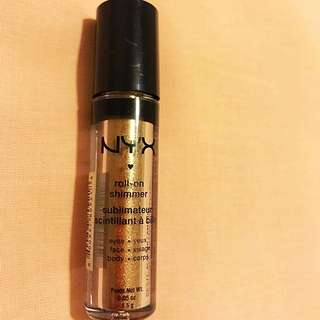 NYX authentic roll-on shimmer (Gold)