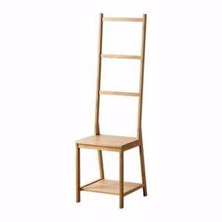 IKEA bathroom towel rack chair   bamboo