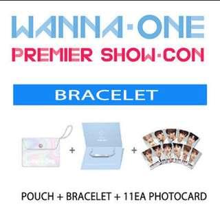 LF Wanna one showcase / showcon bracelet set transparent pc