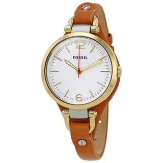 Fossil ES3565 Georgia Brown Leather Watch for Women - COD + FREE SHIPPNG