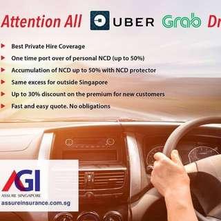 Car Insurance for Uber Grab Drivers!
