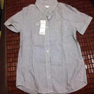 [全新]LOWRYS FARM 休閒正式兩穿條紋短袖襯衫(含運)#交換最划算