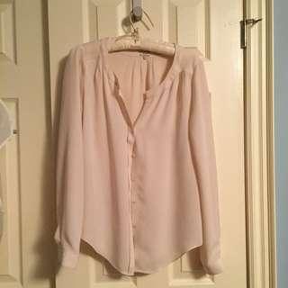 Babaton silk blouse - cream sz s