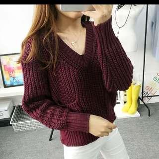 Ready stock crop sweater