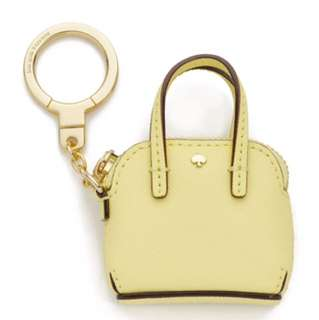 Kate Spade Lemon Yellow Mini Maise Keychain
