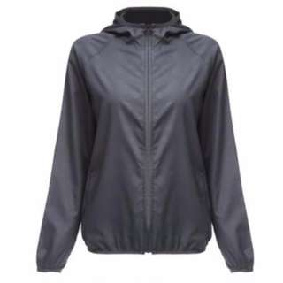 OUTDOOR SPORT HIKING CAMPING QUICK DRY WATERPROOF BREATHABLE JACKET LIGHTWEIGHT COAT (GRAY) M