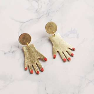 Hand shaped earrings