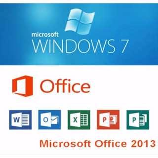 Windows 7 + Office 2013 Pro Plus (Genuine Activation Keys)