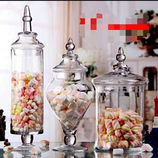 Candy jars / Apothecary party jars for RENT in your dessert table