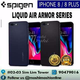 Spigen iPhone 8/ 8 Plus Liquid Air Armor Case Casing Cover