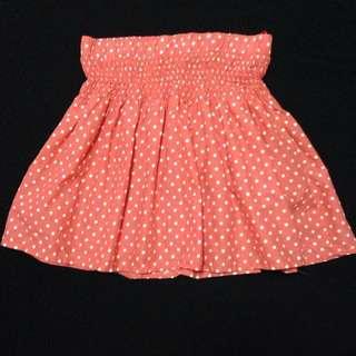 Bershka Polka Dot Flare Skirt