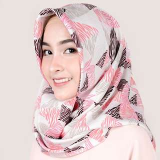 Syal & Scarf Almeira Hijab Wolfis Pastel Pattern - kerudung segi empat motif
