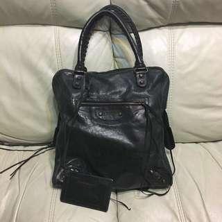 Balanciaga mini bowling bag handbag Dark Green