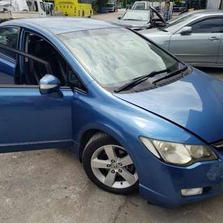 HONDA FD 1.8(A) 2007 TIP TOP CONDTION (BEST PRICE ON TOWN) (SGPORE SCRAP CAR)