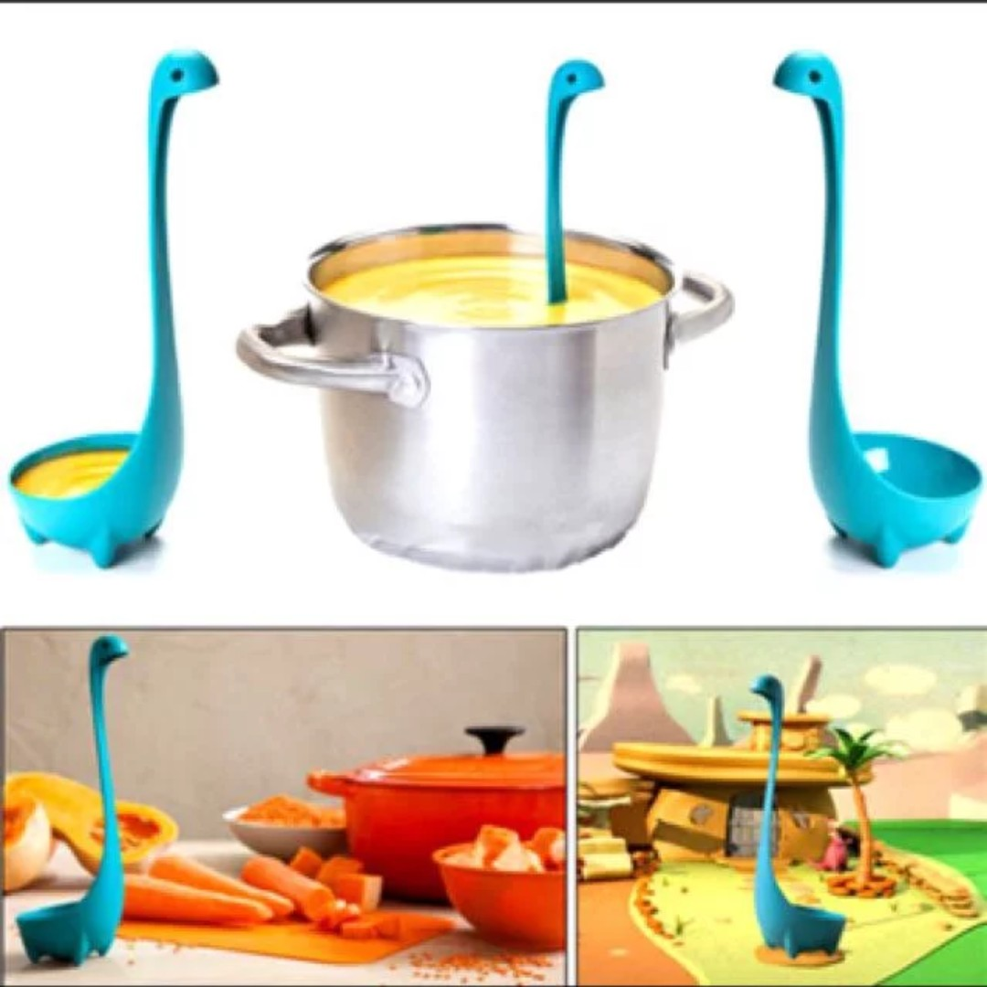 6 Mailed Cute Dinosaur Soup Spoon Ladle Kitchen Supplies Sales Clearance Flea