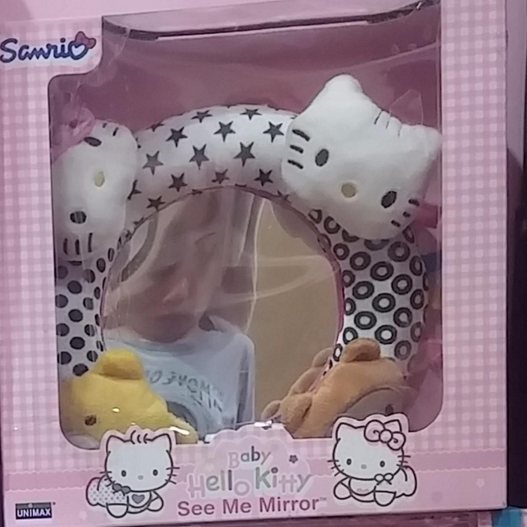 正版三麗鷗 Hello kitty系列 嬰幼兒益智成長玩具 鏡面認識自己