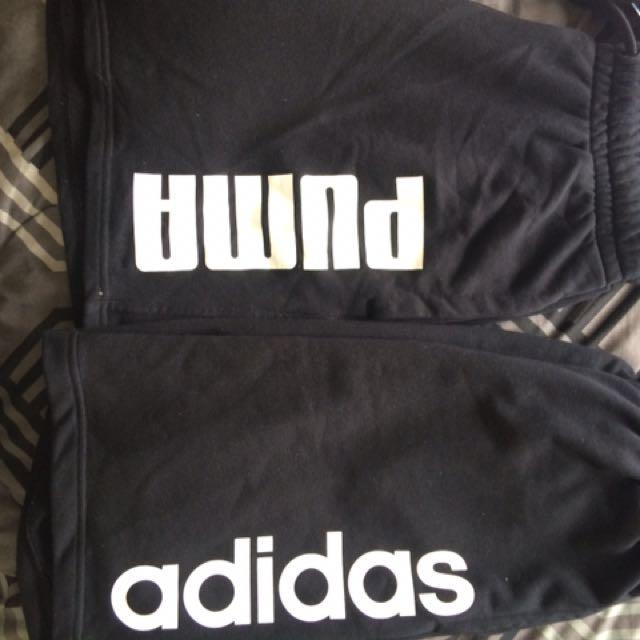 Adidas and puma shorts