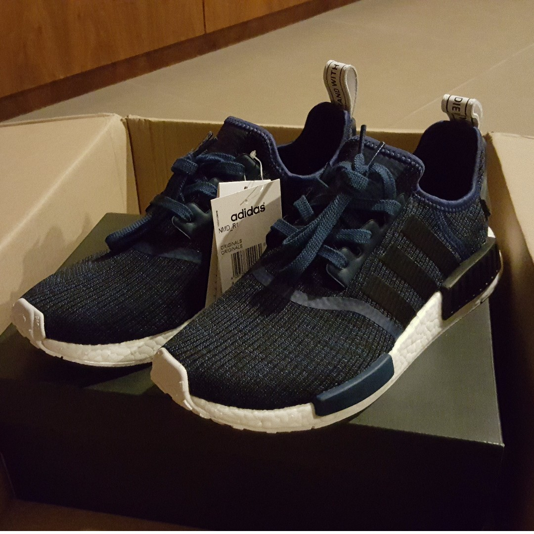 sports shoes 72660 a8313 Adidas NMD R1 Mystery Blue (Authentic), Men's Fashion ...