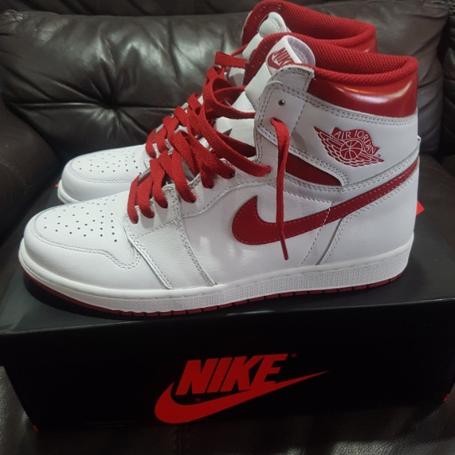 a1a33cc951b Air jordan 1 metallic red, Men's Fashion, Footwear, Sneakers on Carousell