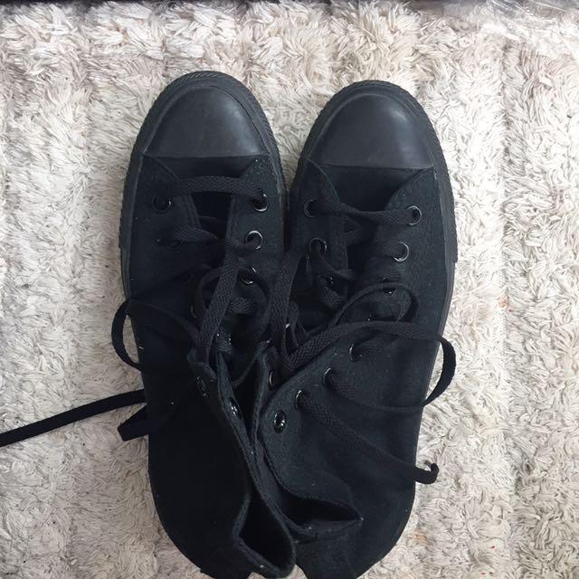All Black High Top Converse 🖤