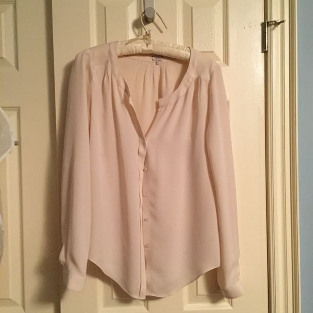 Babaton silk blouse - cream sz s