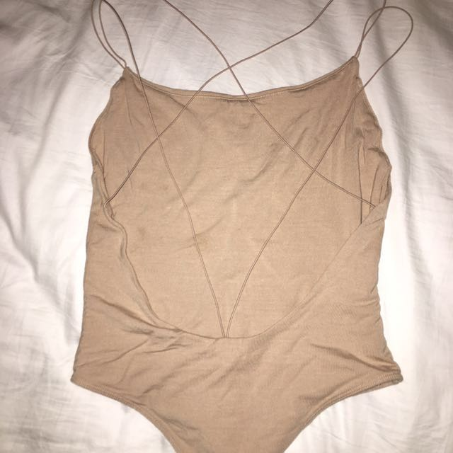 Bardot Backless Bodysuit
