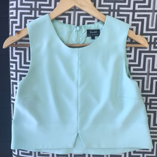 BARDOT crop in soft aqua blue/green