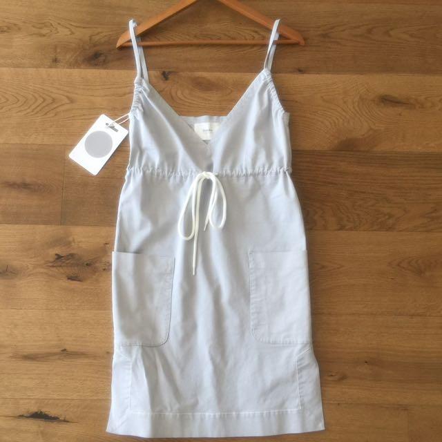 Bassike heather grey pinafore dress
